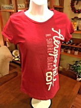 AEROPOSTALE Juniors T-Shirt Short Sleeves Red Size L #159 - $8.89