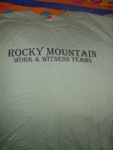 Rocky Mountain Work & Witness Teams NC Baptist Men T-Shirt Size Med - $17.00