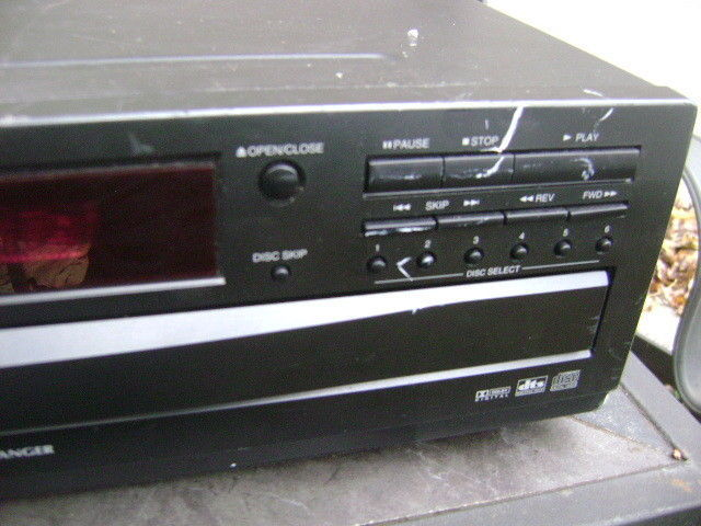 Toshiba 6 Disc DVD Video Player Carousel CD Changer Digital SD-4109X w/remote