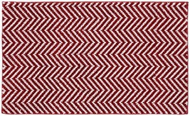 "Garland Rug Palazzo II Bath Rug, 21"" x 34"", Crimson Red/White - $14.94"