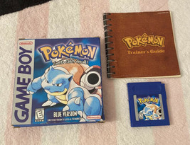 Pokemon Blue Version Nintendo Game Boy 1998 Box, Trainer's Guide Manual ... - $243.02 CAD