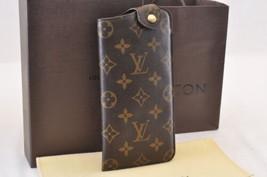 Louis Vuitton Monogram Etui A Lunettes Mm Glasses Case M66544 Lv Auth 7029 - $420.00