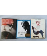 Lot of 3 DVD / Blu-Ray Movies Lincoln, W., 60 Minutes With Andy Rooney - $23.96