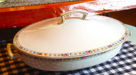 Antique (1901) Ridgway Swansea semi-porcelain covered tureen | serving b... - $80.99