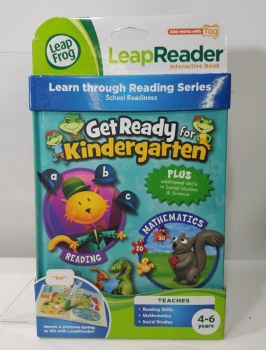 LEAP READER LEAP FROG TAG INTERACTIVE BOOK GET READY KINDERGARTEN AGES 4-6