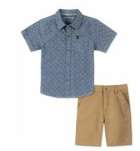 Calvin Klein Jeans Toddler Boys 2-Pc. Logo-Print Chambray Shirt & Twill ... - $23.63