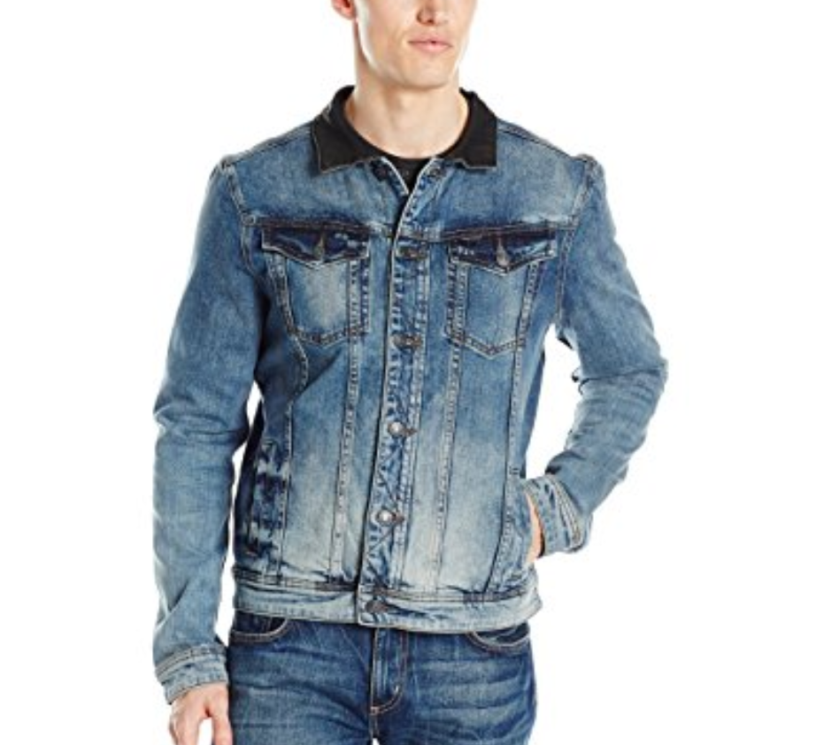 $139 Buffalo David Bitton Men's Joe Denim Jacket, Blue, Size S