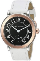 Marc Jacobs Women's MJ1515 Riley White Leather Watch - $128.43
