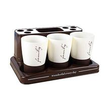 Creative Bathroom Accessory Family Suits Toothbrush Holder Rack Gargle Cup A - $31.54