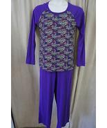 Jenni Sleepwear Sz XL Purple Multi Peace & Love Long Sleeve 2 Pc Pajama ... - €17,73 EUR