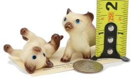 Hagen Renaker Specialty Cat Siamese Kittens - 2 Piece Ceramic Figurine Set image 2
