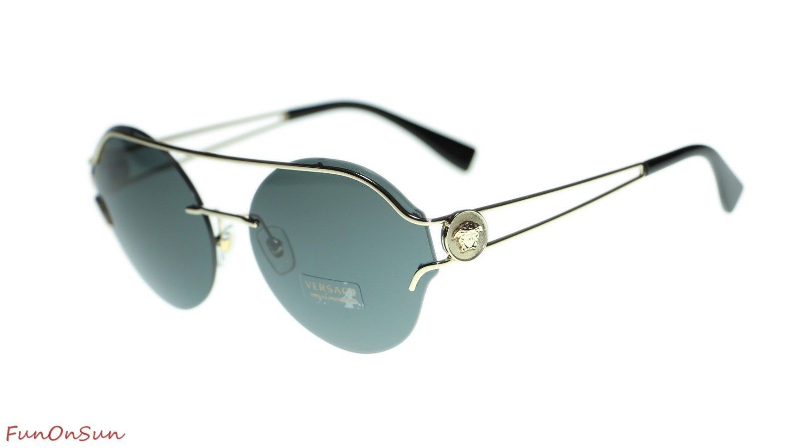 a649c4ebebc4d Versace Round Sunglasses VE2184 125287 Pale and 50 similar items. 10