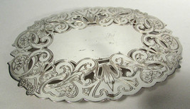 "Vintage Wallace Silverplate Oval Trivet 8 3/4"" Footed & Pierced 7310 360 GR - $14.84"