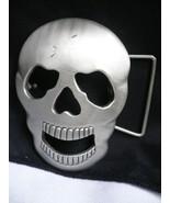 Hommes Crâne Boucle Ceinture Argent Métal Déguisement Halloween Boogeyman - $24.47