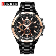 Fashion Curren Luxury Brand Man quartz full stainless steel Watch Casual Militar - $30.62