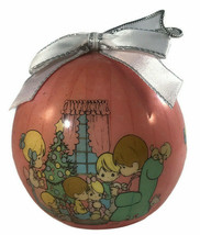 "Vintage Pink Precious Moments 3"" Christmas Ornament 1995 - $13.85"
