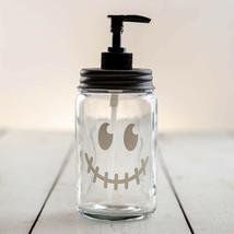Country JACK-O-LANTERN FACE SOAP LOTION DISPENSER Farmhouse Rustic - Bla... - $38.99