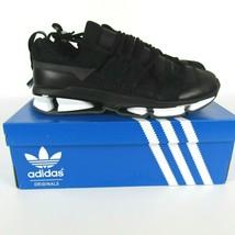 Adidas Twinstrike Adv Elástico Cuero Casual Zapatos Negros Blanco B28015... - $87.83