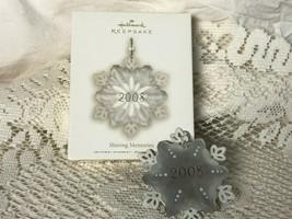 Hallmark Keepsake Ornament Shining Memories 2008 Snowflake - $14.03