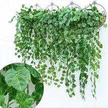 Artificial Ivy Flower Garland Vine Fake Scindapsus Hanging Plants for Ho... - $28.95