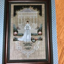 Charles Craft Victorian Bride Cross Stitch Kit Started Irish Linen Cloth... - $24.75