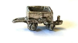 ORE CAR FIGURINE CAST WITH FINE PEWTER - Approx. 1 inch Long  (T156) image 2