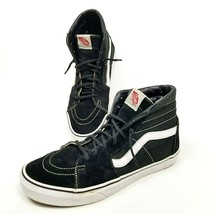 Vans Off The Wall Sk8 Hi Black White Canvas Suede Skate Shoes Mens Sz 10... - £29.83 GBP