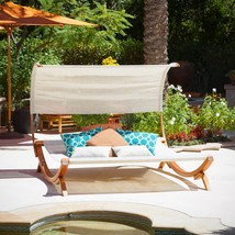 Home Garden Miriam Double Chaise Lounge with Cushions Patio Outdoor Furn... - $463.62