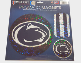 Penn State Nittany Lions Magnets 11x11 Die Cut Prismatic Set of 3**Free ... - $20.85