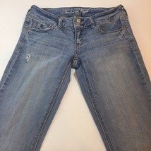 American Eagle Light Wash Artist Stretch Women's Jeans Size 2 Long - $18.35