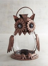 Jeweled Owl Candle Holder Lantern Glass Pier 1 Imports Discontinued Funk... - $1.606,04 MXN