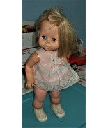 Vintage 1964 Baby First Step walking doll by Mattel with original dress - $25.00