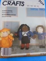 """Mc Calls Crafts 2134 Soft Sculptured Doll School Clothes 16 & 18"""" Uncut Ff - $4.15"""