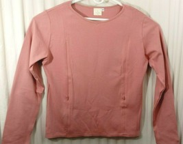 Breastfeeding Nursing Rose Pullover Sz 2X Long Sleeves Zip 2 Feed Cotton... - $10.44