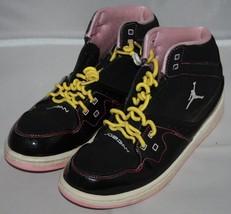 Nike Flight Jordan Sneakers Sz 3 Jahre Jugend Kinder Gelb Lockig Schnürs... - $21.90
