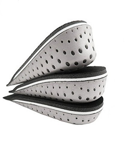 One Pair Hard Breathable Memory Foam Height Increase Insole Invisible Increased