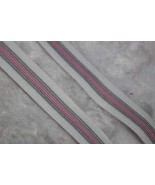 "2 Yards 1 Striped Pink White Gray Boxer Stretch Elastic Rainbow 5/8"" Wid... - $9.94"