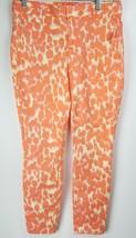 "NWT Gap ""Skinny Mini Khakis"" 0 Orange Yellow Patterned  Stretch - $29.69"