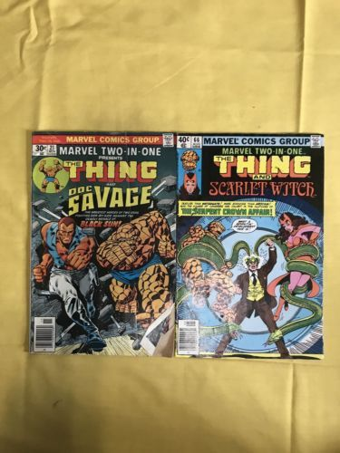 Lot of 2 Marvel Two-in-One (1974 1st Series) #21 63