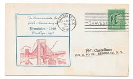 NY 1946 Brooklyn New York 300th Anniversary Breukelen 1646 Commem Cachet... - $6.69