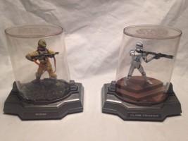 STAR WARS 2005 Hasbro Titanium Series BOSSK and Clone Trooper Die Cast - $24.69