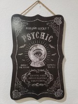 Halloween Psychic Crystal Ball Fortune Teller Wall Sign Door Plaque Deco... - $25.99