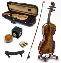 4/4 Antique Style Professional Handmade VN402 Violin Kit w Case Bow Rosi... - $329.99