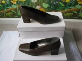 Enzo Angiolini Brown Herringbone Print  Leather Sole Slip-on Shoes Sanda... - $23.16