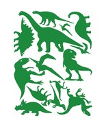 LiteMark Green Assorted Dinosaur Decals - Pack of 42 - $19.95