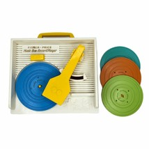 Fisher Price Music Box Record Player with 4 Records Classic Toys Works G... - $39.59