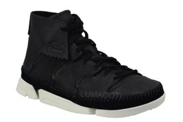 Mens Clarks Originals Trigenic Flow Black Leather Boot 26119894 - $139.99