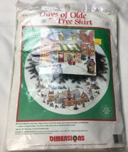 """Dimensions Days of Olde Tree Skirt Counted Cross Stitch Kit 45"""" New Open... - $28.03"""