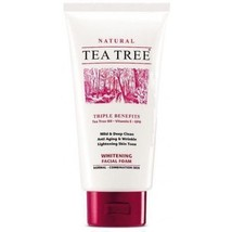 Tea Tree Natural Whitening Facial Foam Cleanser Face Wash 140ml - $14.31