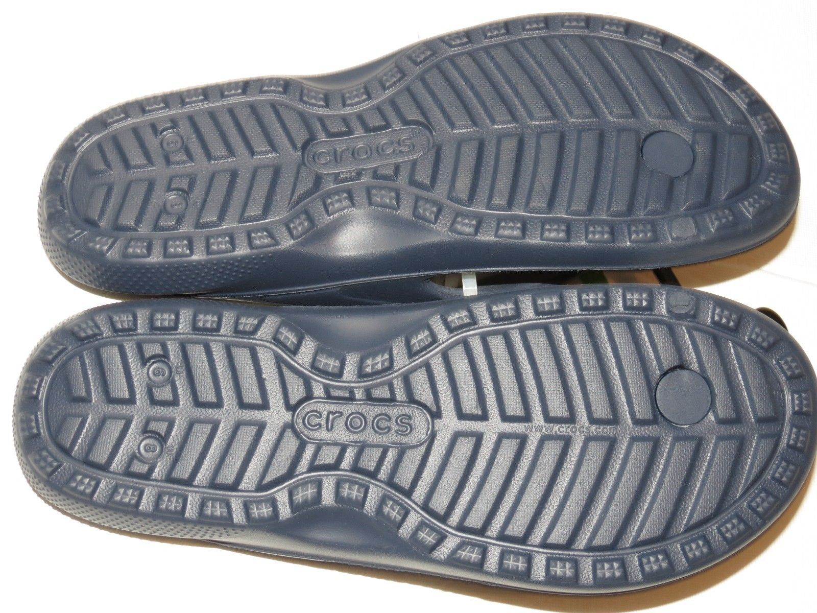 1ee379376 Crocs Classic Flip Navy Blue relaxed Unisex M 6 W 8 flip flops sandals  202635